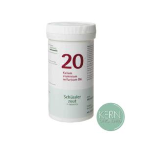 Pflüger Schüsslerzouten Nr. 20 Kalium aluminium sulfuricum D6 400 tabletten